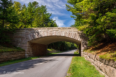 Stone Bridge over Park Loop Road - Acadia NP