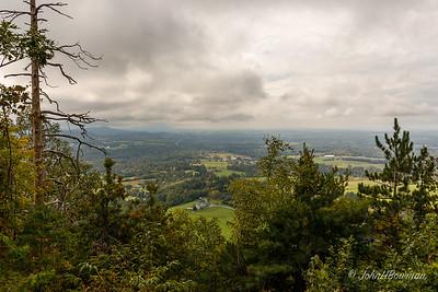 Champlain Valley & Adirondacks from Mt Philo - Charlotte, VT