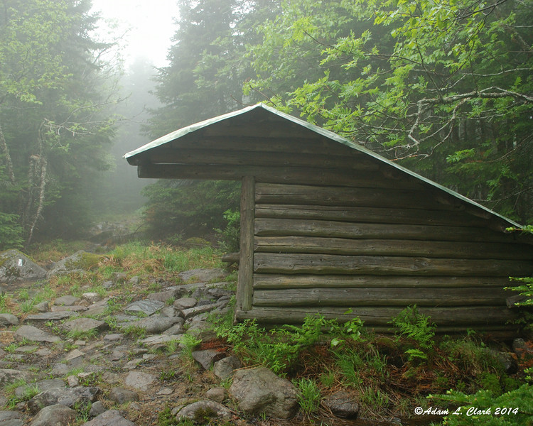 The lean to next to the trail at Horns Pond