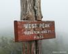 The summit of Bigelow Mtn, West Peak