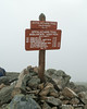 The summit of Bigelow Mountain, Avery Peak.  This peak is 2,000 miles from the southern end of the Appalachian Trail