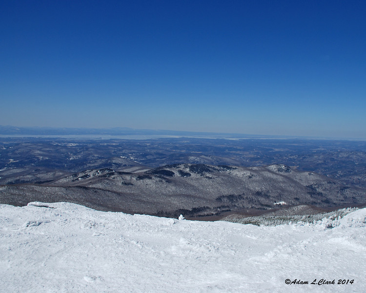 Looking northwest from the summit towards Lake Champlain
