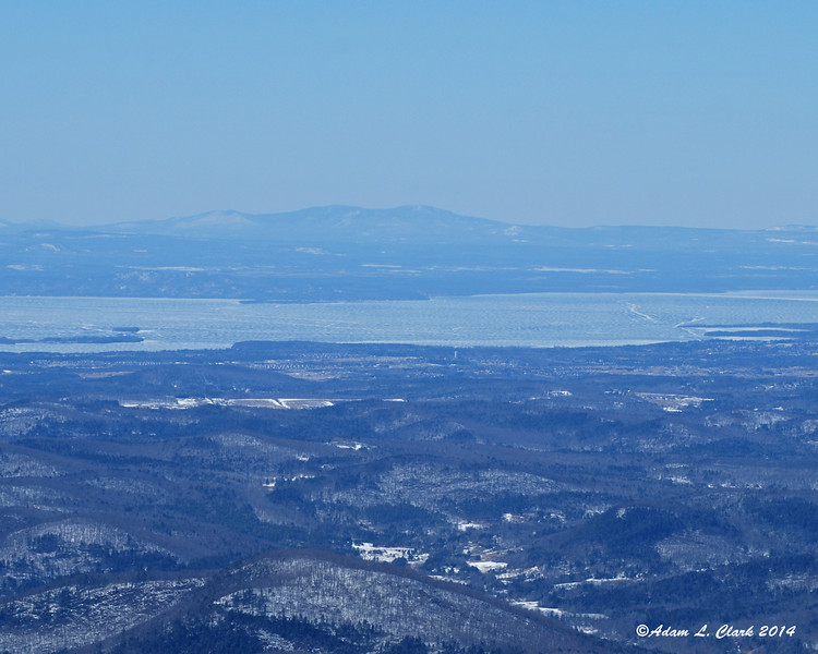 Lake Champlain filled a lot of the view to the west