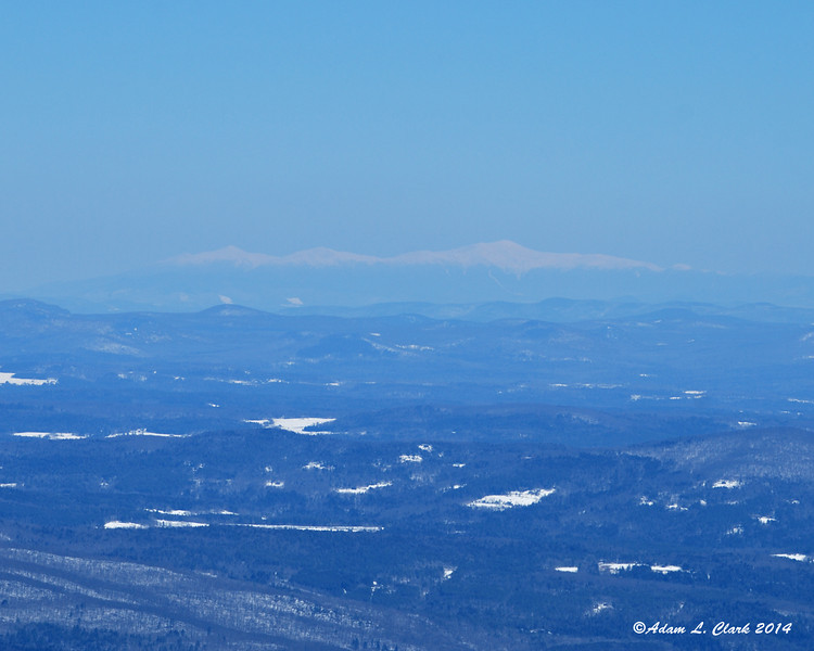 The view was a bit hazy, but it was easy to make out the Presidential Range back in NH