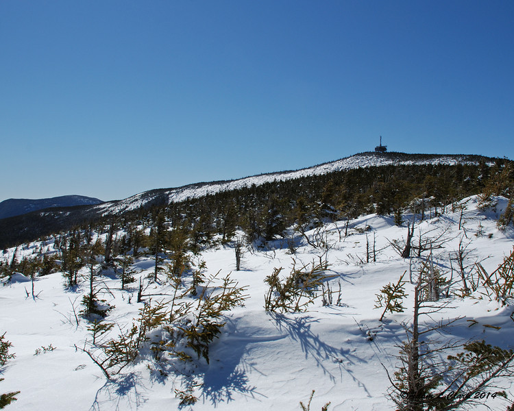 Looking back up to the summit from the view point