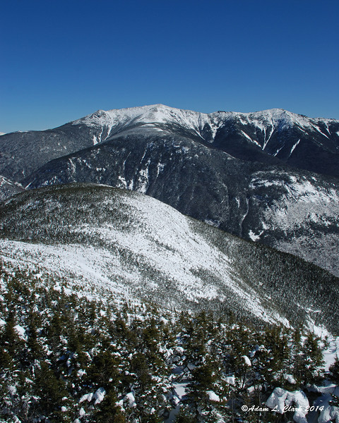 Franconia Ridge behind the east summit