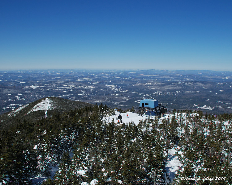 Looking to the north over the upper end of the ski lift