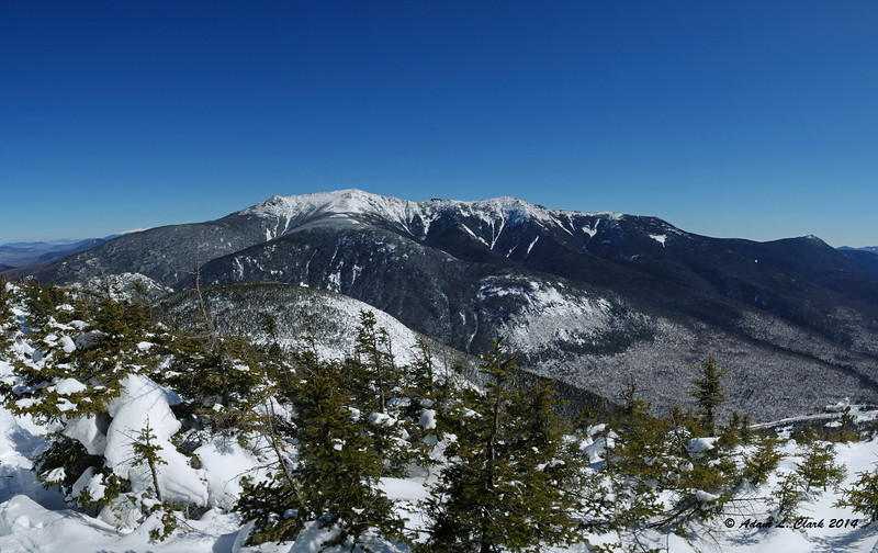 A panoramic of Franconia Ridge from the Rim Trail.  Mt. Flume hides behind M. Liberty though