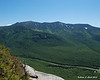 The northern end of Franconia Ridge as seen from a rocky outlook along the trail.  Mt. Lafayette, Mt. Truman, Mt. Lincoln, and Little Haystack Mtn (L to R)