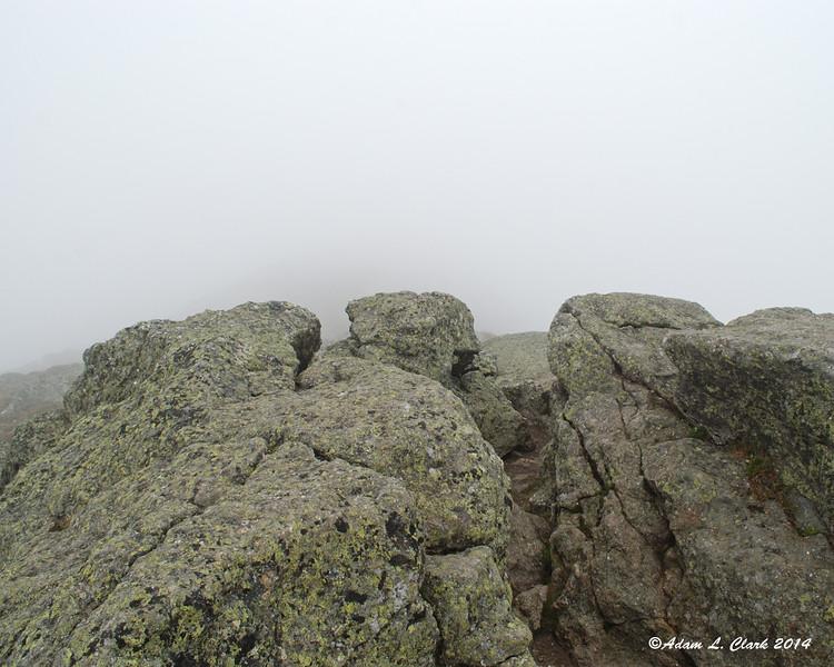 Rocks at the summit of Mt. Monroe