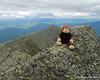 Miles on the summit of Mt. Adams... Mt. Madison behind