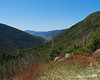 After a short distance on the Garfield Ridge Trail you come to the Galehead Hut and the opening around it.  This is the view down through the valley into the Pemigewasset Wilderness