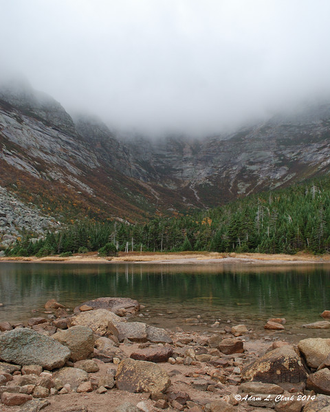 Chimney Pond at the base of the South Basin