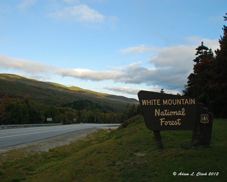 Looking west from the north end of Crawford Notch State Park, the skies are looking pretty clear