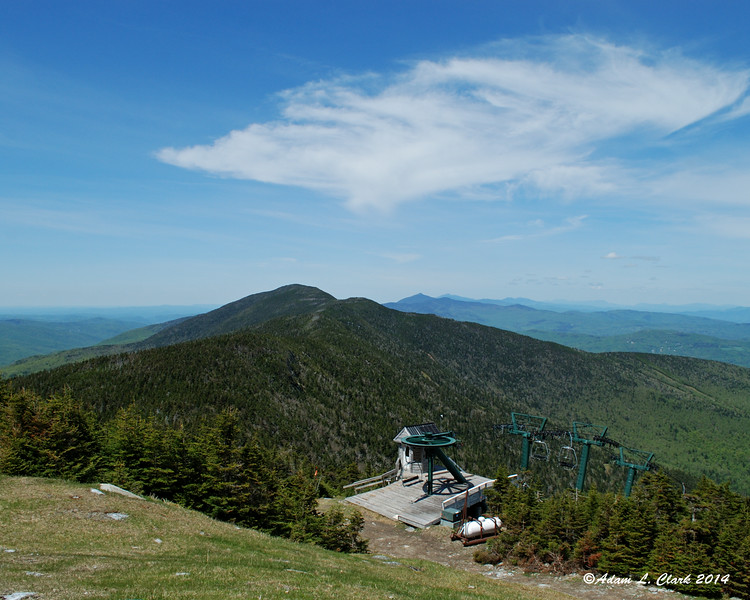 Looking north from the top of the ski trail