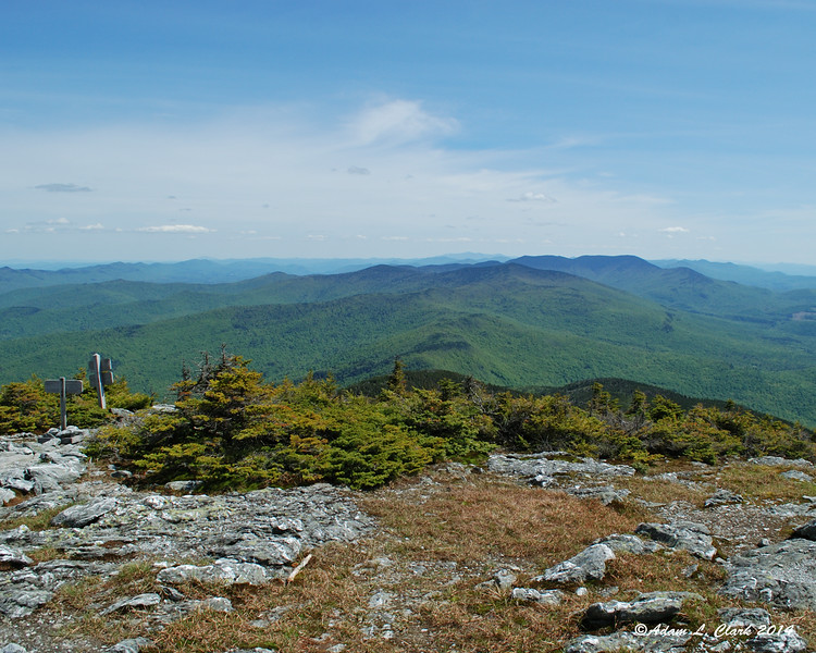 Looking south from the summit of Mt. Abraham