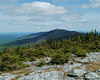 Looking north up the range from the summit of Mt. Abraham