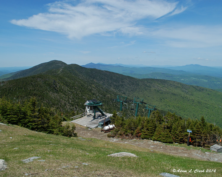 Looking north from the top of  the ski trail near the summit of Mt. Lincoln