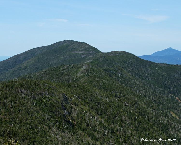 The ridge heading north towards Mt. Ellen
