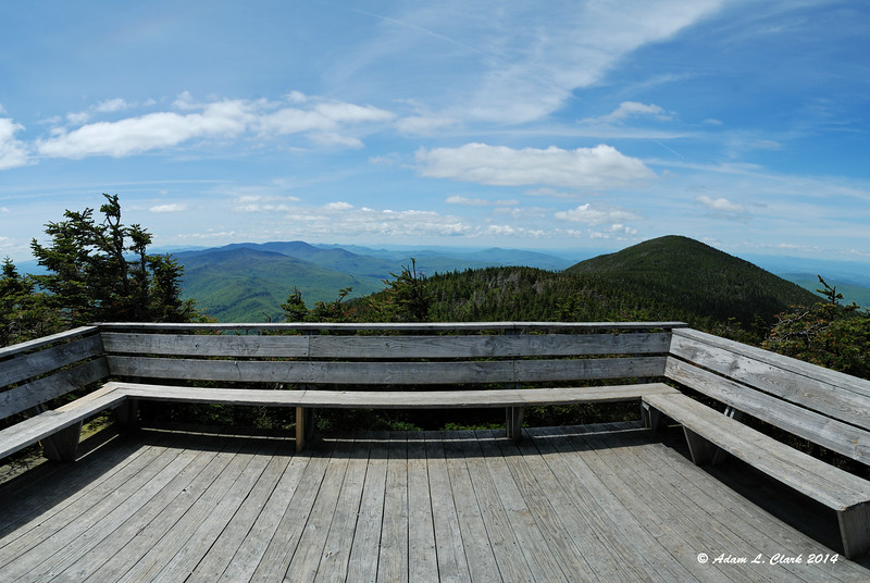 The platform on Mt. Lincoln provides a nice view
