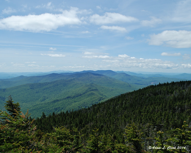 The mountains to the south from Mt. Lincoln