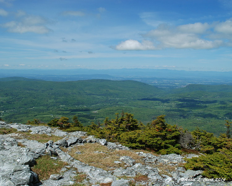 View to the west from the summit