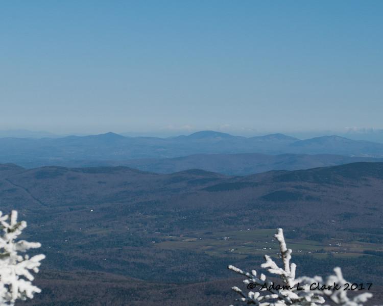 The Presidential Range, prominent on the horizon as always