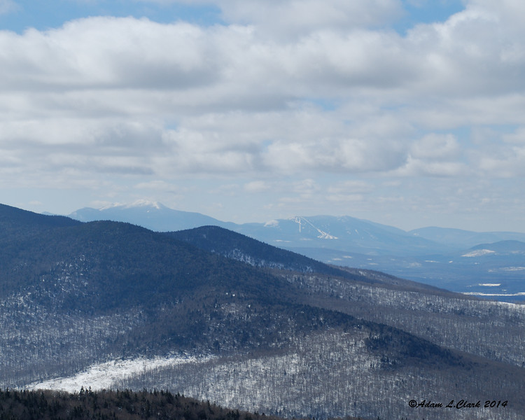 Franconia Ridge and Cannon Mountain can be seen off in the distance