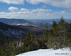 The view west from Bunnell Rock.  A nice viewpoint just a few feet off the trail