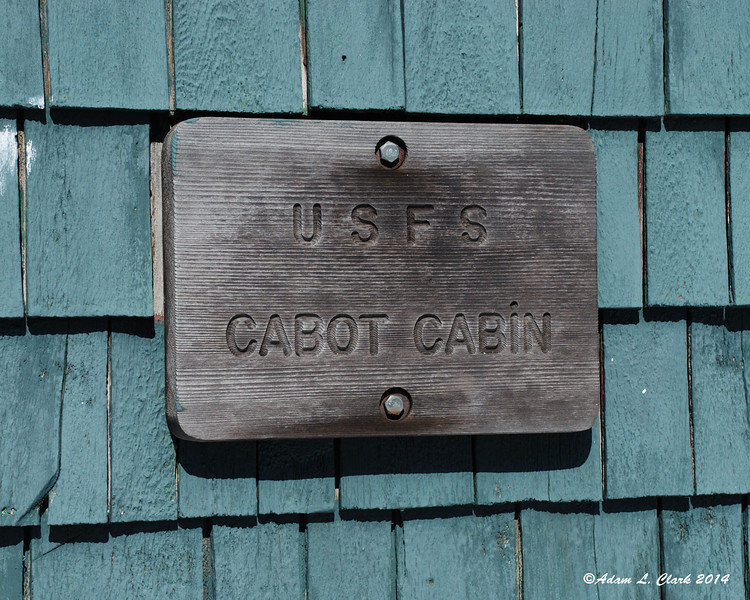 Most of the hard work now done, I've arrived at Cabot Cabin