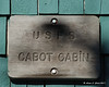Cabot Cabin sign