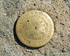 Survey marker on the summit of The Horn