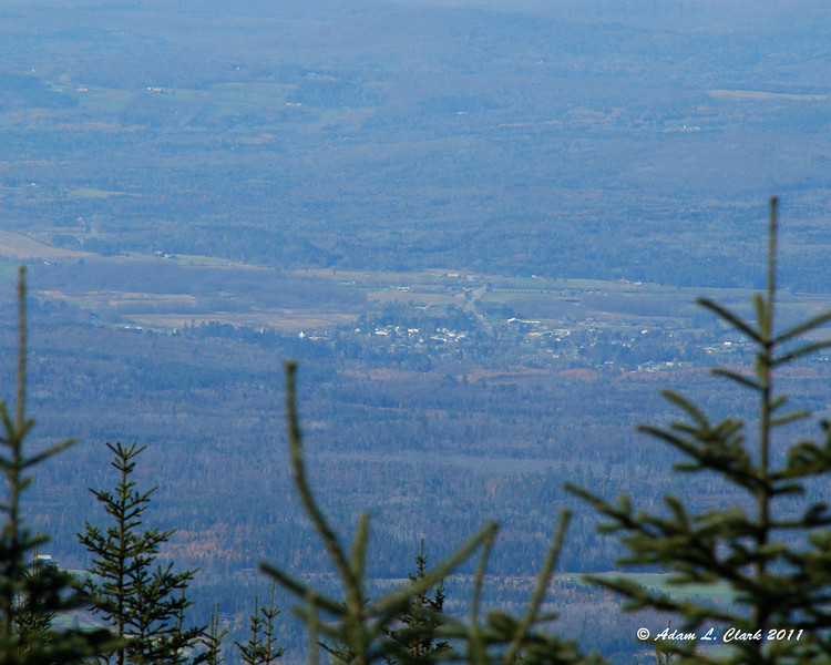 Looking down on Lancaster, NH