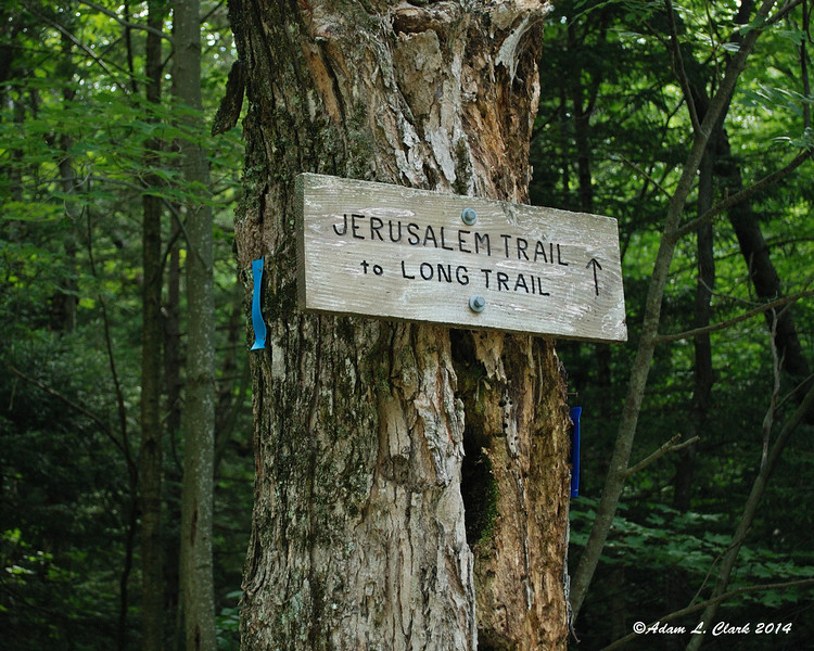 The trail sign at the trail head