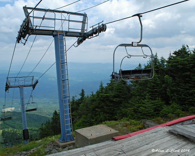 The top of the chairlift