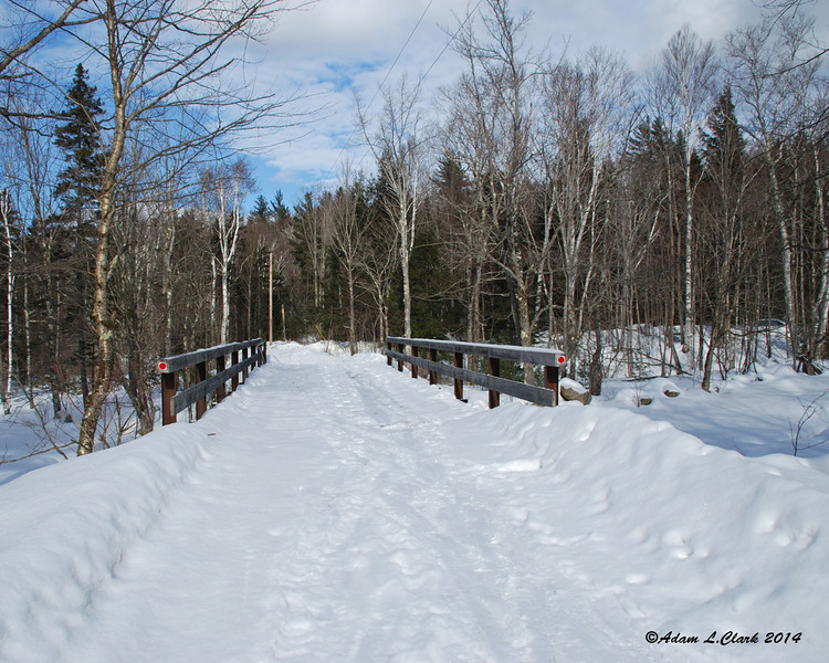 Back to the bridge leading over to Little River Road where people park to hike in the winter