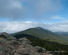 Towards the end of our time at the summit, the peaks up Franconia Ridge started to come out of the clouds more