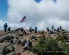 Hikers around the summit area