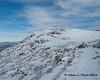 Up on the summit ridge nearing the top