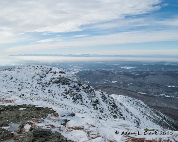 The open summit ridge heading to the north