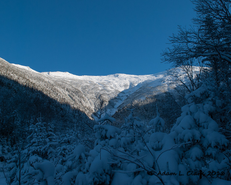 A better look up the ravine to the flanks of Mt. Washington