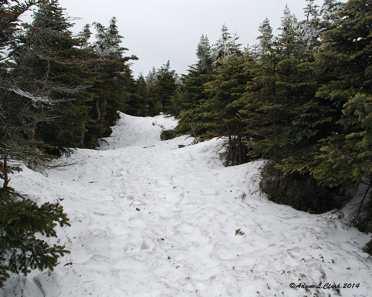 There was still plenty of snow on the Carriage Road.  It looked to still be at least 3 feet deep in places