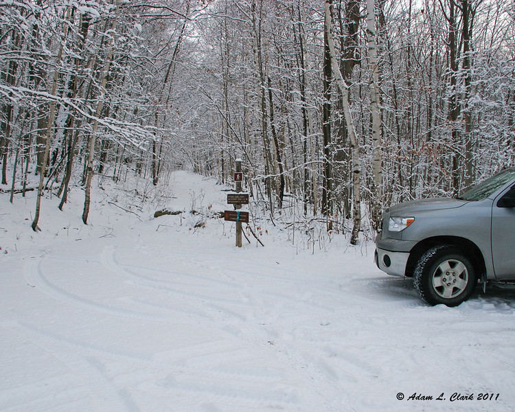 When I pulled into the trailhead, I was the first one there