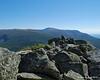 Looking over the summit rocks to Mt. Katahdin