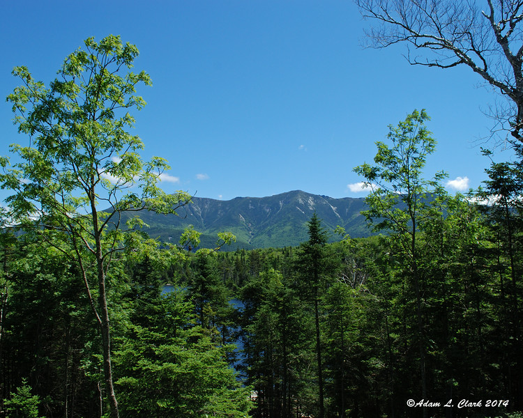 A partial view of Franconia Ridge from the Lonesome Lake hut