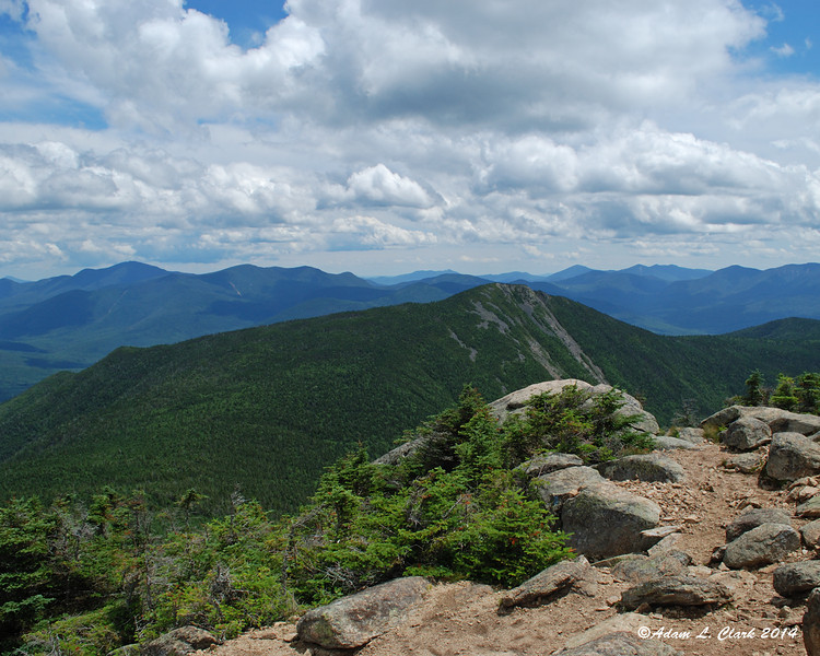 Looking back at Mt. Flume from the summit of Mt. Liberty