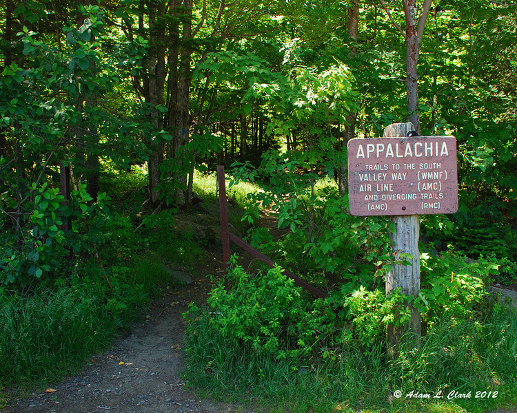 The start of the journey.  Appalachia Trailhead on Route 2