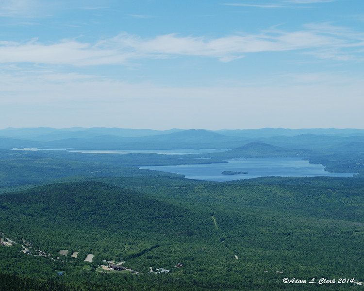 Rangeley Lake with Mooselookmeguntic Lake behind it