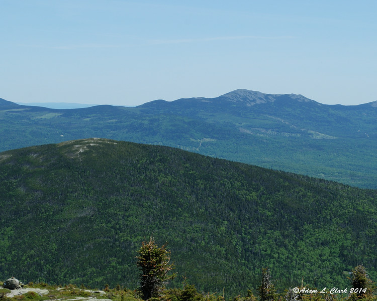 Looking over Saddleback Junior to Mt. Abraham