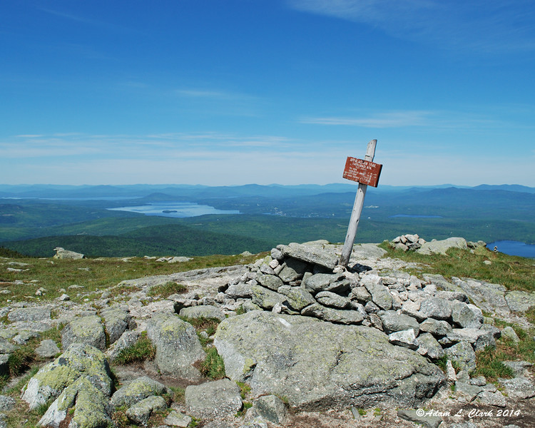 The summit of Saddleback Mountain